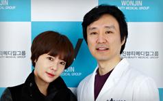 黄静茵到访韩国原辰整形医院 美丽与你同行