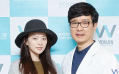 千禹熙到访韩国原辰整形医院 美丽与你同行